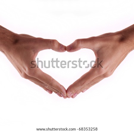Beautiful hands in a heart-to-day Valentine