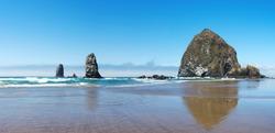 Beautiful Haystack Rock at Cannon beach