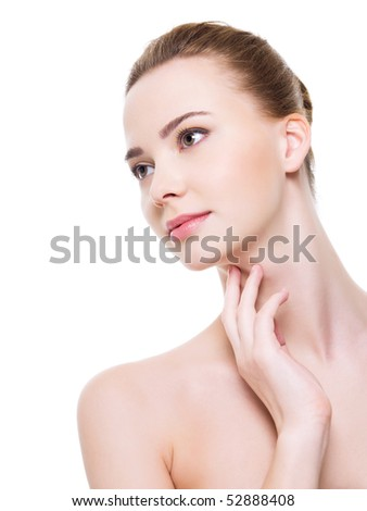 Lifestyle - Pagina 5 Stock-photo-beautiful-health-woman-face-with-clean-purity-skin-isolated-on-white-52888408
