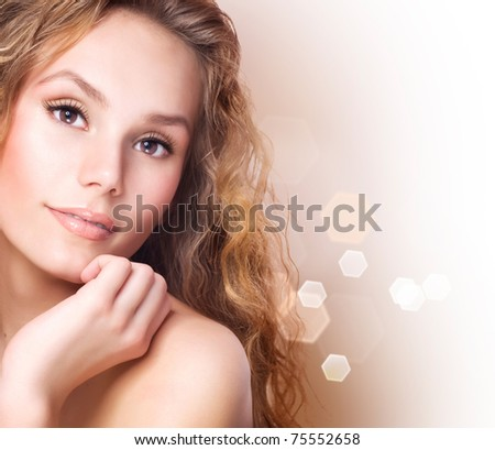 Beautiful Healthy Spa Girl - stock photo