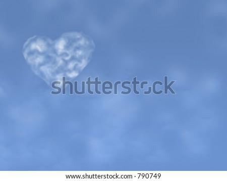 Beautiful Heart Cloud in the sky