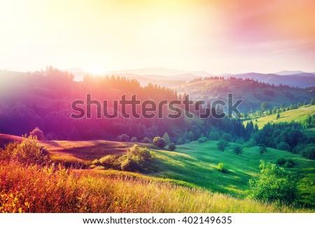 beautiful hills glowing by...