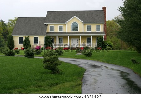 beautiful home and landscape