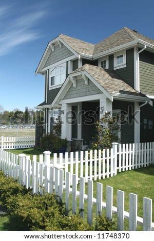 Beautiful Home White Picket Fence