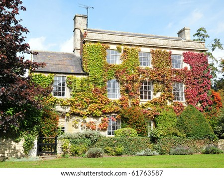 Beautiful House and Garden in Autumn