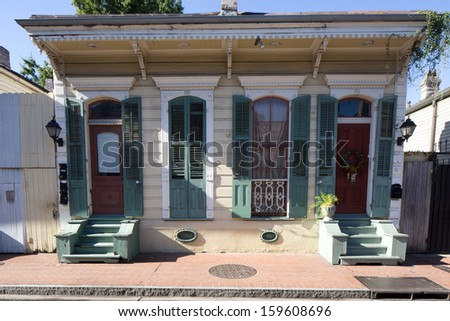 Beautiful House in French Quarter of New Orleans, Louisiana