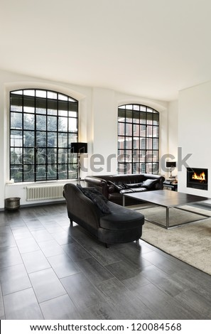 beautiful house, interior, view of the living room