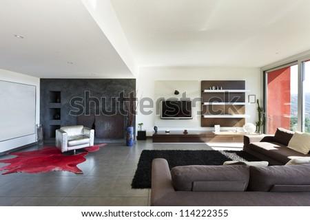 beautiful house, modern style, living room