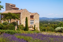 Beautiful house situated near blooming lavender with incredible view on Provence, France.