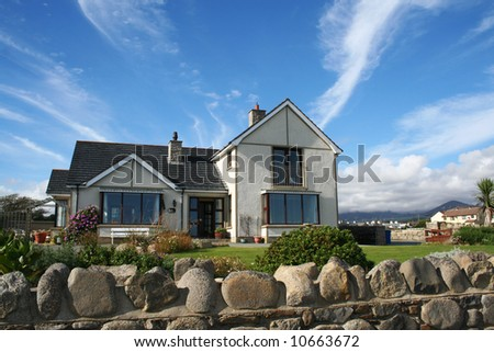 Beautiful house with the garden