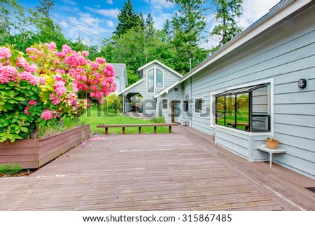 Beautiful house with the perfect back deck. #315867485