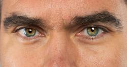 beautiful  human eyes close-up shot