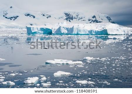 Beautiful iceberg drifting in Antarctic waters