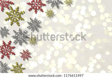 beautiful illustration of colorful snowflakes on white background #1176611497
