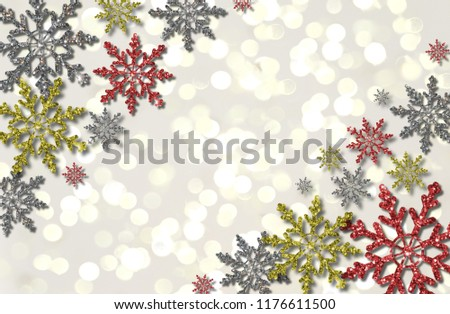 beautiful illustration of colorful snowflakes on white background #1176611500