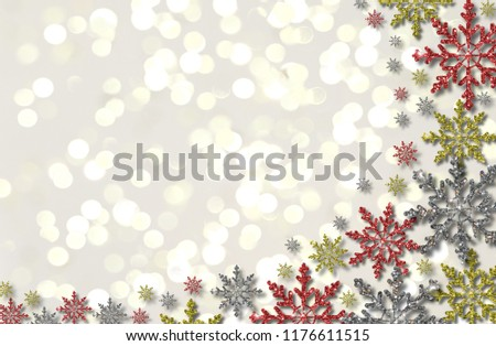 beautiful illustration of colorful snowflakes on white background #1176611515