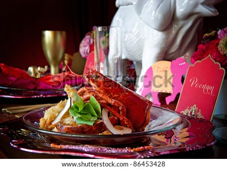 Beautiful image of a gourmet lobster dinner