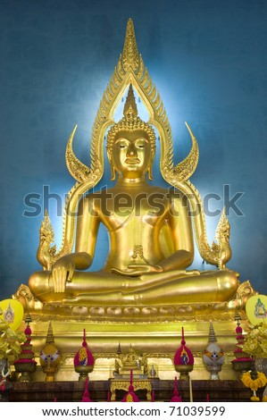 beautiful image of buddha at Wat Benjamaborpit Bangkok Thailand