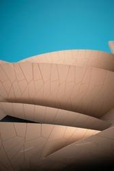 beautiful image of desert rose shaped museum