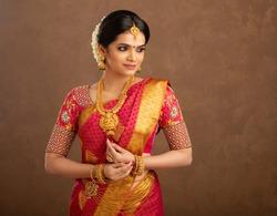 Beautiful Indian bridal in studio shot.