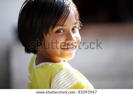 Beautiful Indian little girl portrait.