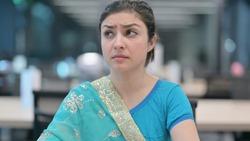 Beautiful Indian Woman Feeling Scared