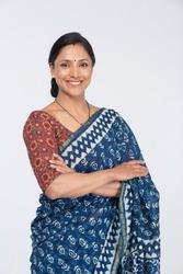 Beautiful Indian woman in sari