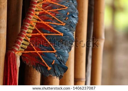 Beautiful Indigenous Headdress of Feathers #1406237087