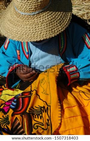 beautiful indigenous tissues inhabitants of the islands #1507318403