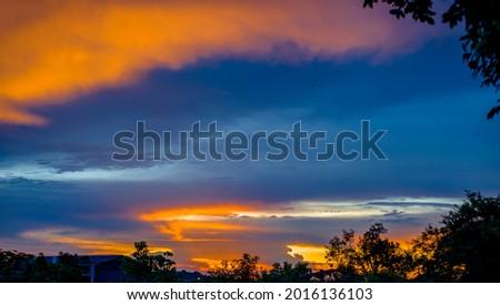 Beautiful Irisation,Rainbow Clouds,Sky Beautiful,Colorful clouds in the overcast sky,Iridescent cloud ,Iridescent Pileus,Iridescenc 09 Photo stock ©