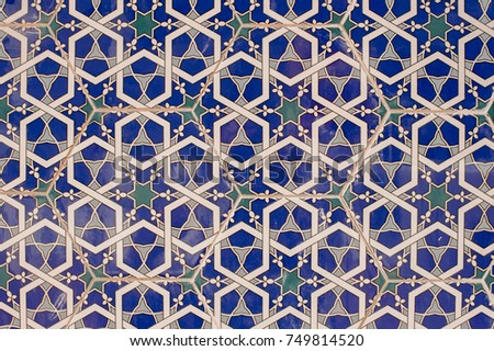 beautiful islamic mosaic...