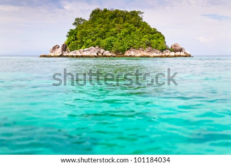 Beautiful island in crystal blue sea at Koh Lipe island, Lipe, Andaman sea, Thailand - stock photo