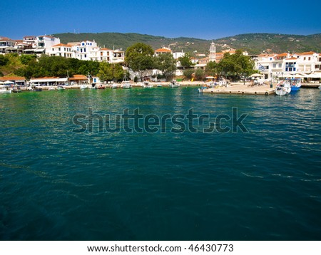 Beautiful island of Skiathos in Greece - stock photo