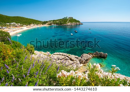 beautiful Jale beach between Himare and Dhermi on albanian riviera, Albania