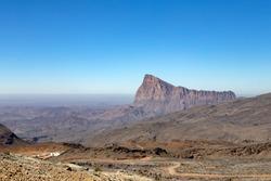 Beautiful jebel shams mountain oman
