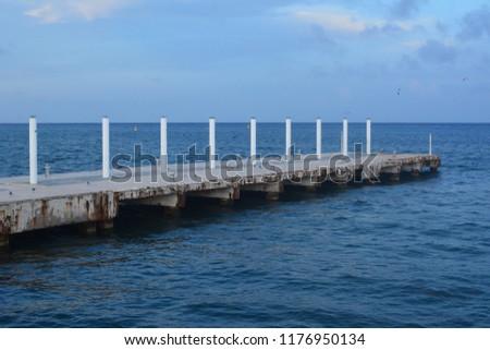Beautiful Jetty at Cozumel Island #1176950134