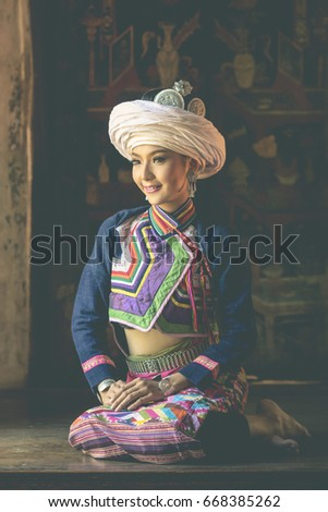 Shutterstock Beautiful karen hill tribe woman in traditional dress in Thailand.