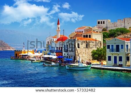 beautiful Kasteloriso bay (Greece, Dodecanes)