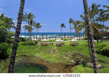 Beautiful Kona coast on the Big Island of Hawaii at Hualalai