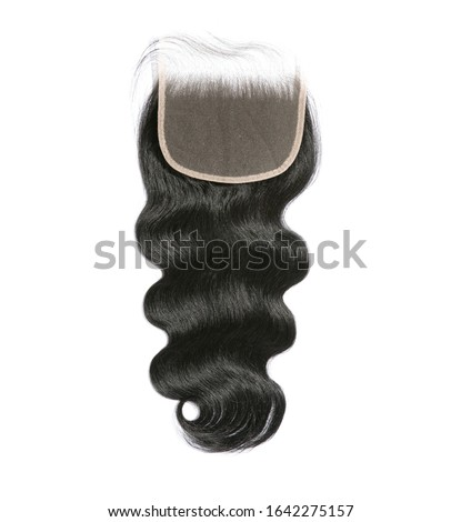 Beautiful lace frontal closure with natural hair Stockfoto ©