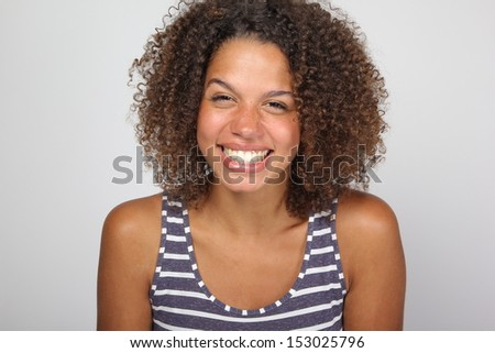 Beautiful lady with funny faces
