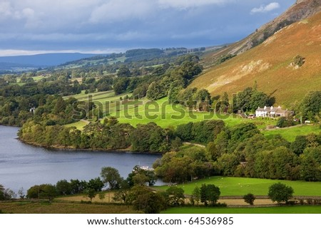 Beautiful lake district landscape in England