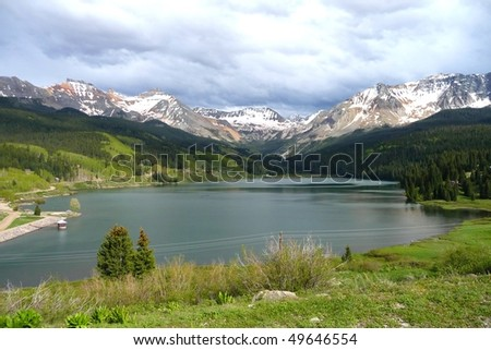 beautiful lake in the rocky mountains, Colorado