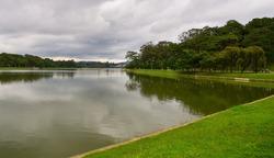 Beautiful lake scenery at summer day in Dalat, Vietnam.