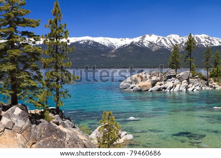 beautiful lake tahoe with view...
