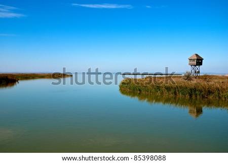 Beautiful lake view - Danube Delta, Romania.