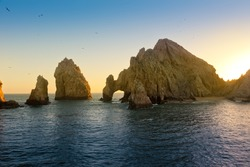 Beautiful Land's End and Lover's Beach in Cabo San Lucas, Mexico.