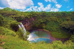 Beautiful land, sea and aerial views of Kauai's Na Pali Coast and other island vistas of this garden paradise.