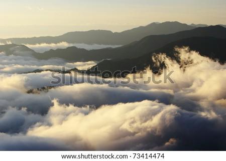 beautiful landscape about cloud - stock photo
