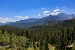 Beautiful landscape along The Louch trail, Rocky Mountain Park, Colorado